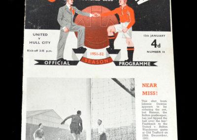 Man Utd v Hull 12.01.1952
