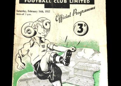 Man Utd v Derby 16.02.1952