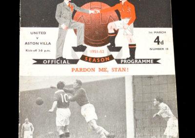Man Utd v Aston Villa 01.03.1952