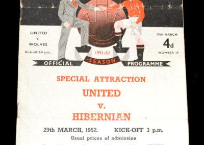 Man Utd v Wolves 15.03.1952