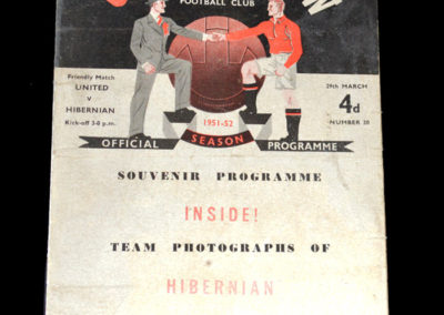 Man Utd v Hibernian 29.03.1952 - Friendly