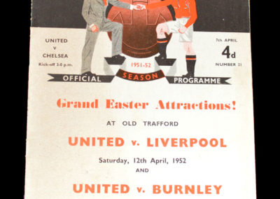 Man Utd v Chelsea - Game Scheduled for 07.04.1952 but was played on 21.04.1952