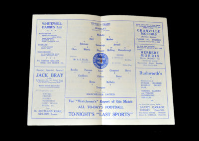 Man Utd v Burnley 11.04.1952