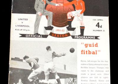 Man Utd v Liverpool 12.04.1952