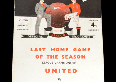Man Utd v Burnley 14.04.1952