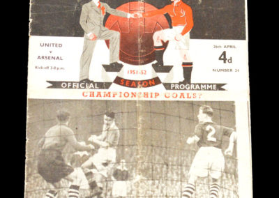 Man Utd v Arsenal 26.04.1952