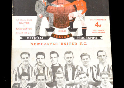 Man Utd v Newcastle 24.09.1952 - Charity Shield