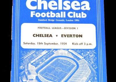 Chelsea v Everton 18.09.1954