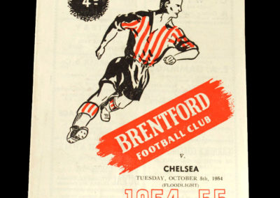 Chelsea v Brentford 05.10.1954 - Floodlight Game