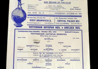 Chelsea Res v Spurs Res 06.10.1954