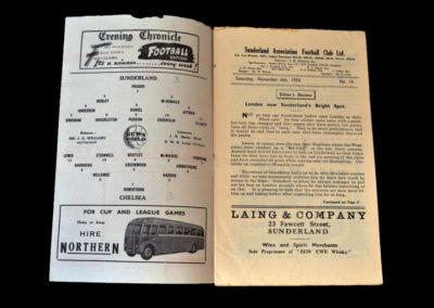 Chelsea v Sunderland 06.11.1954
