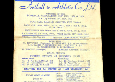 Chelsea v Bolton 01.01.1955