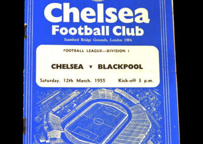 Chelsea v Blackpool 12.03.1955