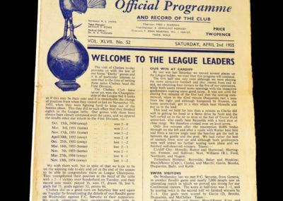 Chelsea v Spurs 02.04.1955