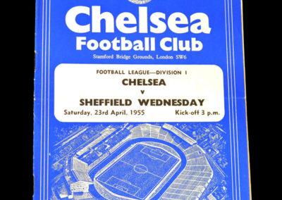 Chelsea v Sheff Wed 23.04.1955