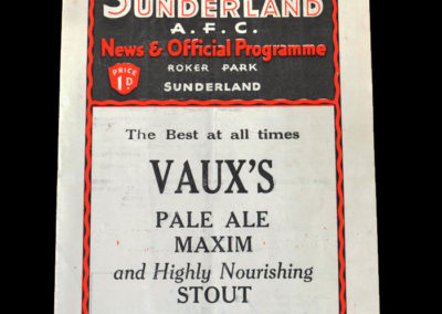 Sunderland Reserves v Middlesbrough Reserves 26.08.1933