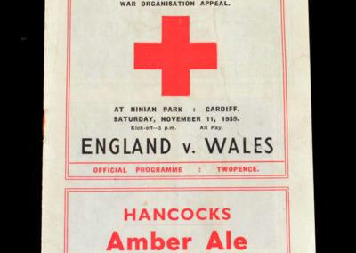 Wales v England 11.11.1939 1-1