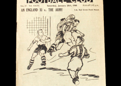 All England XI v The Army 20.01.1940