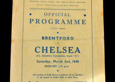 Brentford v Chelsea 02.03.1940