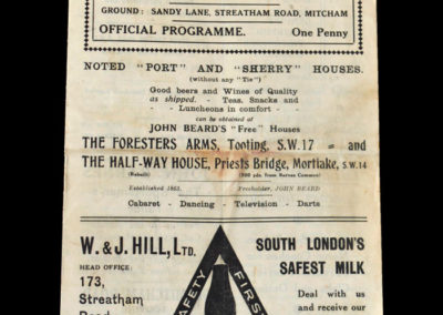 Tooting v Erith 13.04.1940
