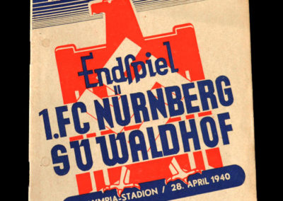 Nurnberg v Waldhof 28.04.1940 - German Cup Final