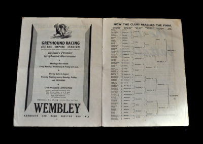 War Cup Final - Blackburn v West Ham 08.06.1940