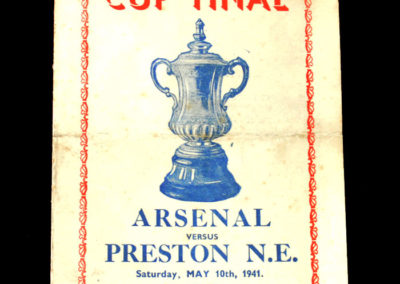 War Cup Final Arsenal v Preston 10.05.1941