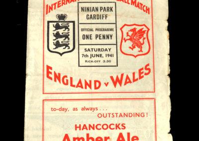 Wales v England 07.06.1941