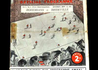 Bohemians v Brideville 13.09.1941