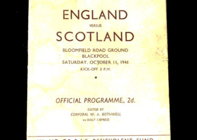 English League v Scottish League 11.10.1941