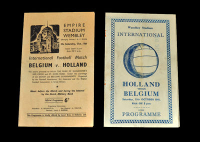 Belguim v Holland 11.10.1941 at Wembley