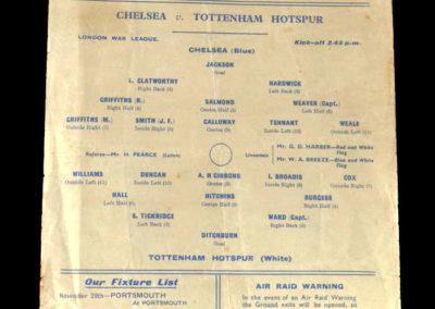 Chelsea v Spurs 22.11.1941