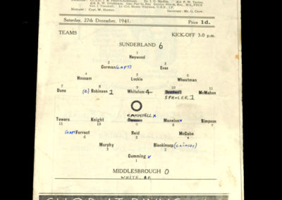 Sunderland v Middlesbrough 27.12.1941