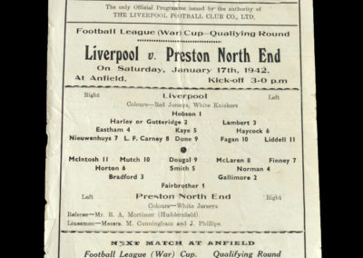 Liverpool v Preston 17.01.1942 2-1 Done gets both.