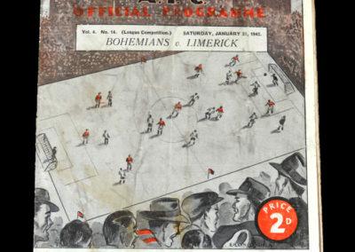 Bohemians v Limerick 31.01.1942