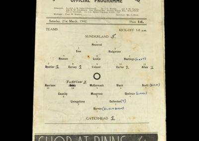 Sunderland v Gateshead 21.03.1942
