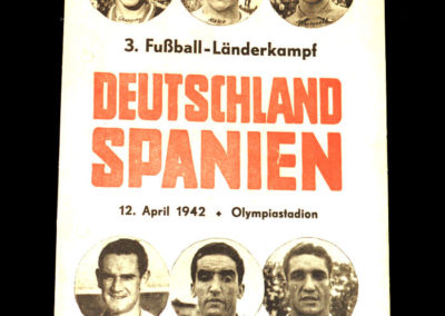 Germany v Spain 12.04.1942