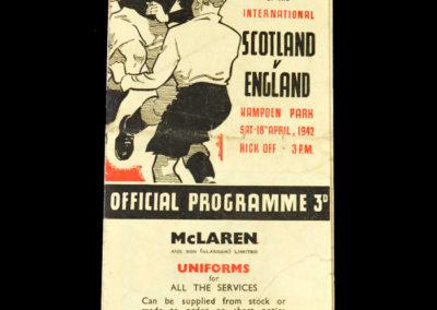 Scotland v England 18.04.1942