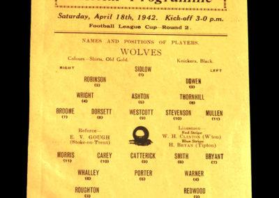 Wolves v Man Utd 18.04.1942
