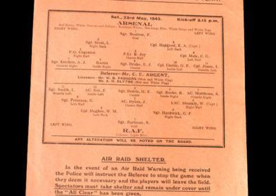 Arsenal v RAF 23.05.1942
