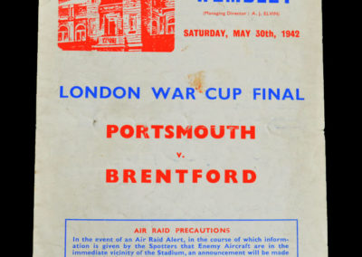 War Cup Final - Portsmouth v Brentford 30.05.1942