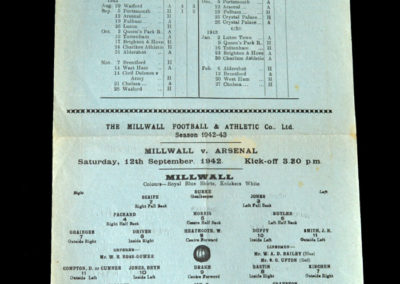 Millwall v Arsenal 12.09.1942
