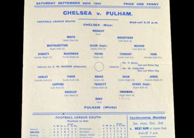Chelsea v Fulham 26.09.1942