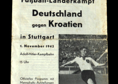 Germany v Croatia 01.11.1942