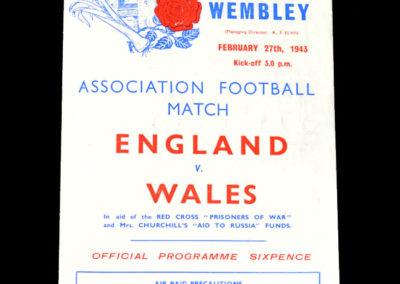 England v Wales 27.02.1943