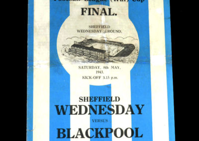 War Cup Final (North) Sheff Wed v Blackpool 08.05.1943 1-2