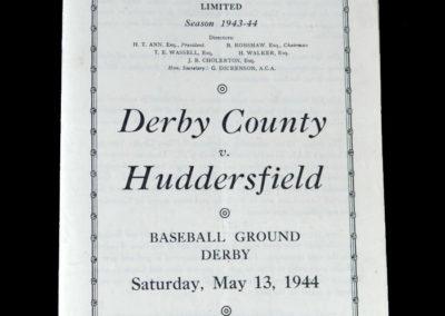 Derby v Huddersfield 13.05.1944