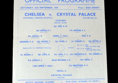Chelsea v Crystal Palace 16.09.1944