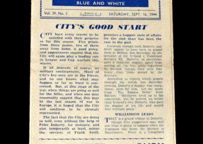 Man City v Liverpool 16.09.1944
