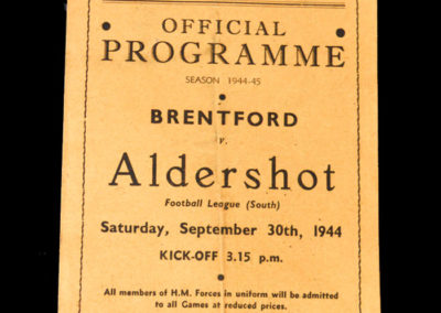 Brentford v Aldershot 30.09.1944